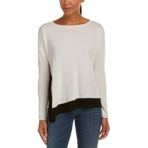 Alice + Olivia Dona Cream Black Wool Sweater XS